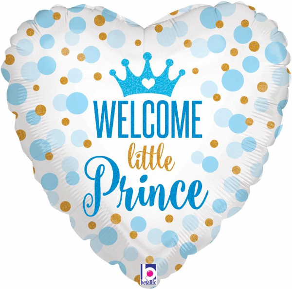 Glitter Baby Prince Foil Balloon